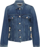 3x1 WJ Denim Hollow Jacket with Lace Up Side
