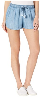 Vineyard Vines Chambray Pull-On Shorts (Jake Blue) Women's Shorts