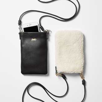 Mark And Graham Faux Shearling Phone Crossbody