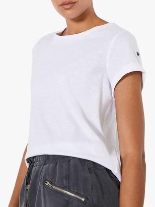 Mint Velvet Cotton Star T-Shirt