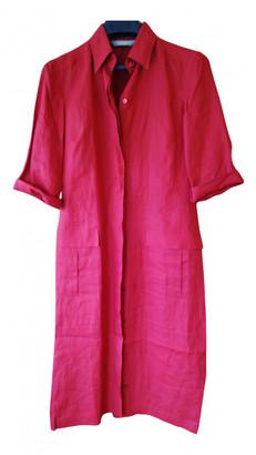 Max Mara Red Linen Dresses