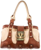 Valentino Straw & Leather Tote