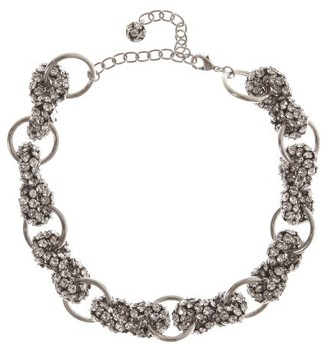 Saint Laurent Crystal-embellished Choker - Womens - Silver