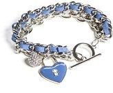 GUESS Women's Silver-Tone Charm Toggle Bracelet