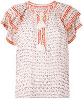 Ulla Johnson tassel detail printed blouse - women - Silk - 2