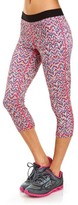 Soffe Blue & Pink Zigzag Dri Capri Leggings - Women