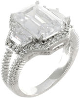 Kenneth Jay Lane FINE JEWELRY CZ by Emerald-Cut Ring