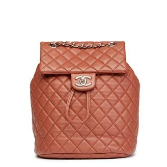 Chanel Timeless/Classique Brown Leather Backpacks