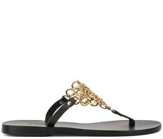 Ancient Greek Sandals Fokida chainmail sandals