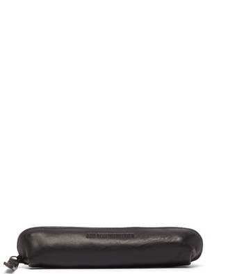 Ann Demeulemeester Logo-debossed Leather Pencil Case - Mens - Black