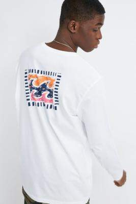 Billabong Iconic Logo Long-Sleeve T-Shirt - white L at Urban Outfitters