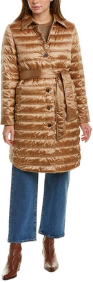 Lafayette 148 New York Delroy Wool-Lined Down Coat