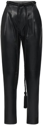 Blancha High Waist Leather Pants