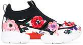 MSGM flower applique sneakers - women - Leather/Neoprene/Polyurethane/rubber - 36