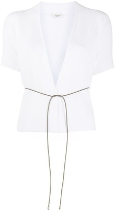 Peserico Thin Cord Belt Cardigan