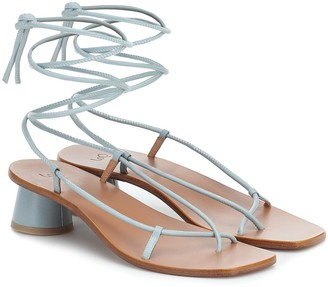LOQ Olea leather sandals
