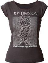 Impact Joy Division Rock Band Music Group Unknown Pleasures Juniors Cut T-Shirt Tee