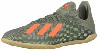 adidas Kid's Unisex X 19.3 Indoor Legacy Green/Solar Orange 3