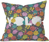 "Deny Designs Bianca Green Yolo 16"" Square Decorative Pillow"