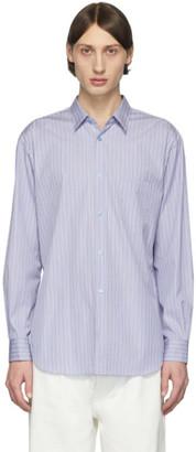 Comme des Garcons Blue Striped Poplin Shirt