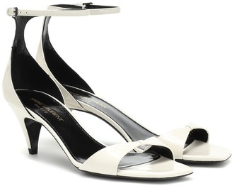 Saint Laurent Charlotte patent leather sandals