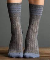 Midnight Metallic Tweed Rugby Socks