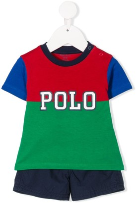 Ralph Lauren Kids logo T-shirt shorts set