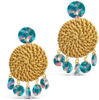 Sterling Forever 14K Plated Resin Drop Earrings