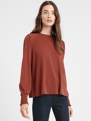 Banana Republic Wrinkle-Resistant Balloon-Sleeve Blouse