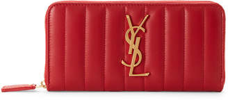 Saint Laurent Red Vicky Large Leather Wallet