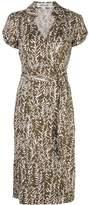 Diane von Furstenberg abstract print wrap dress