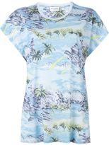 Saint Laurent watercolour print T-shirt