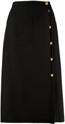 Gucci GG button midi skirt