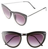 Spitfire Women's Outward Urge 50Mm Cat Eye Sunglasses - Black/ Gold/ Black