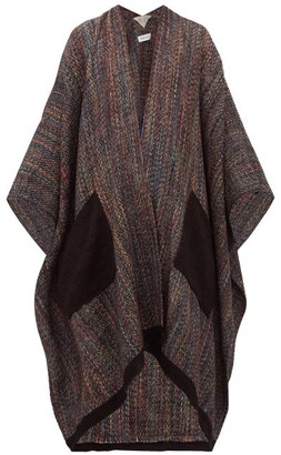 Wehve - Andrea Patch Pocket Wool Shawl - Womens - Brown