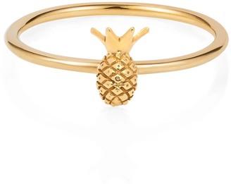 Lee Renee Tiny Pineapple Ring Gold Vermeil