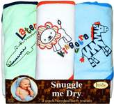 FRENCHIE MINI COUTURE Safari Animal Towel, Boy, (Pack of 3)
