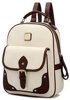 Hynbase Womens Retro Travel Backpack Leahter Rucksack Casual Shoulder Bag