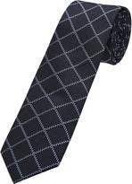 Oxford Silk Tie Windowchecks Nvy/ Blu X