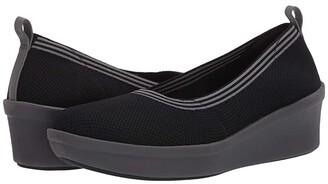 Clarks Step Rose Fern (Black Textile) Women's Shoes