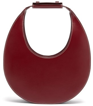 STAUD Moon Leather Shoulder Bag - Womens - Burgundy