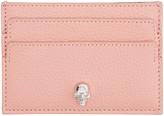 Alexander McQueen Pink Skull Card Holder