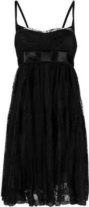 Dolce & Gabbana Pre-Owned Empire Line Lace-Panelled Dress