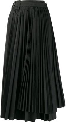 Sacai Pleated Wrap Skirt