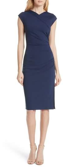 Diane von Furstenberg Ruched Cap Sleeve Jersey Body-Con Dress