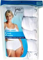 Hanes Just My Size Women's 5 Pack Cotton Hi Cut Panty