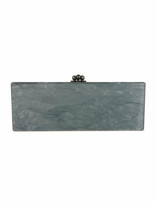 Edie Parker Jean Acrylic Box Clutch Grey