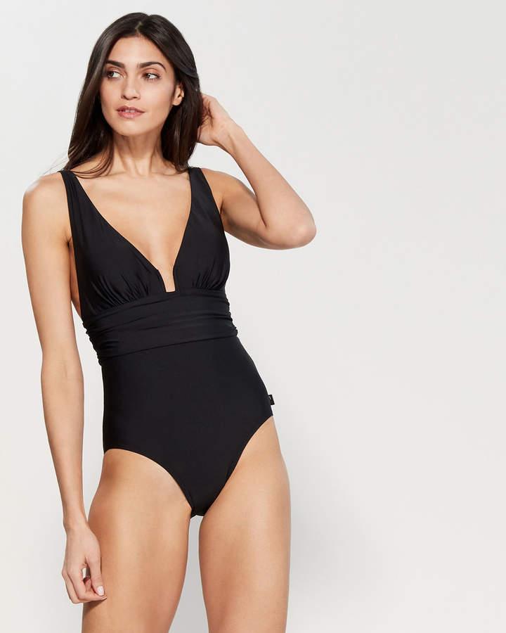 2479c84146a3c Plunging Neckline Swimsuit - ShopStyle