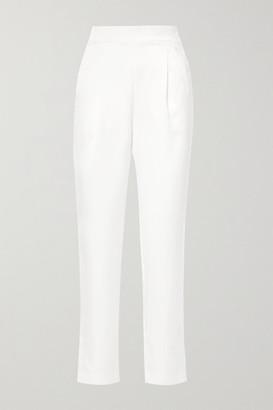 Rasario Satin Straight-leg Pants - Ivory