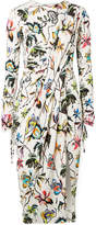 Jason Wu Gathered Floral-print Stretch-jersey Dress - Off-white